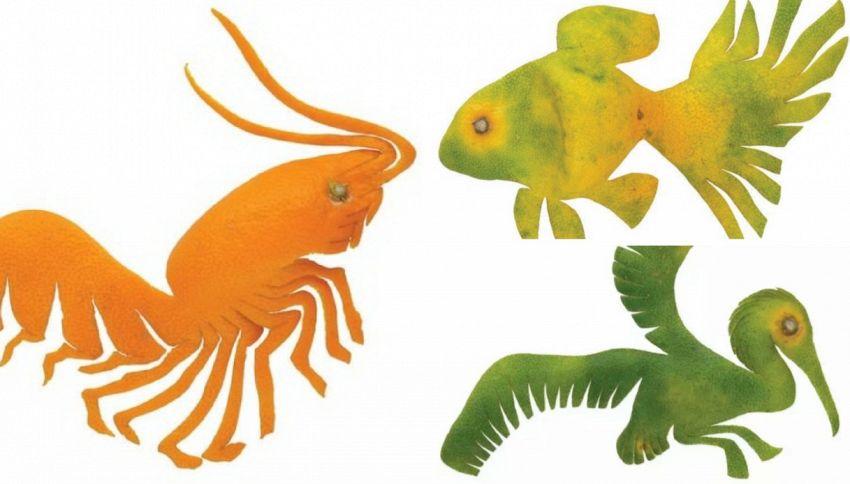 Yoshihiro Okada e l'arte con le bucce di mandarino