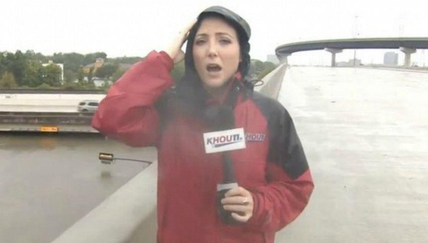 Reporter salva un camionista dall'annegamento in diretta tv