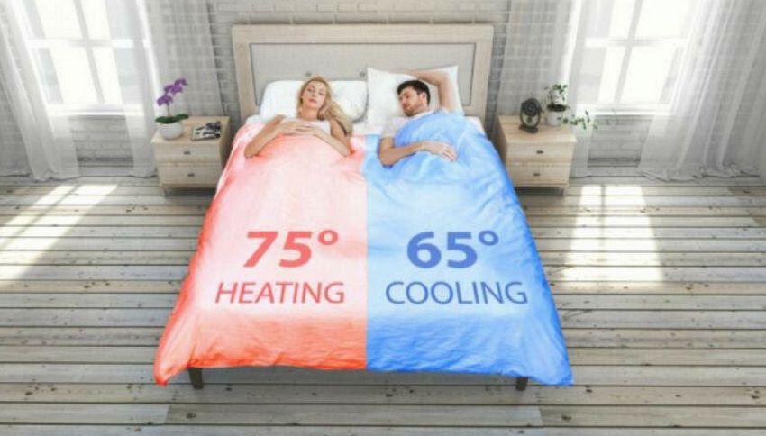 La coperta a due temperature per evitare litigi di coppia