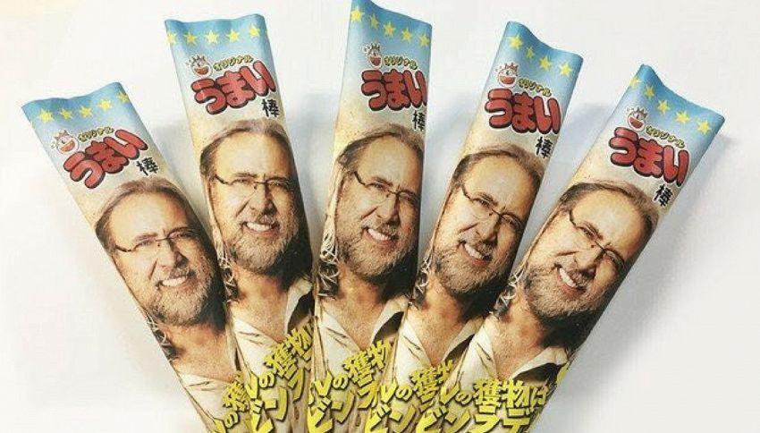 In Giappone arriva Nicolastick: l'assurdo snack di Nicolas Cage