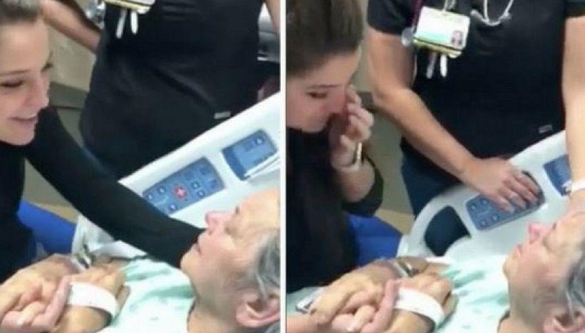 Infermiera canta per la malata terminale. Il video che commuove