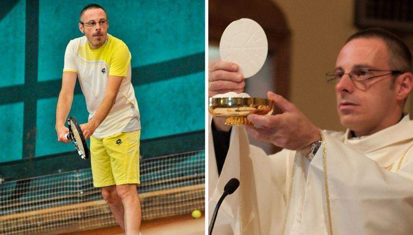 Don Paolo, il prete tennista che gioca i tornei