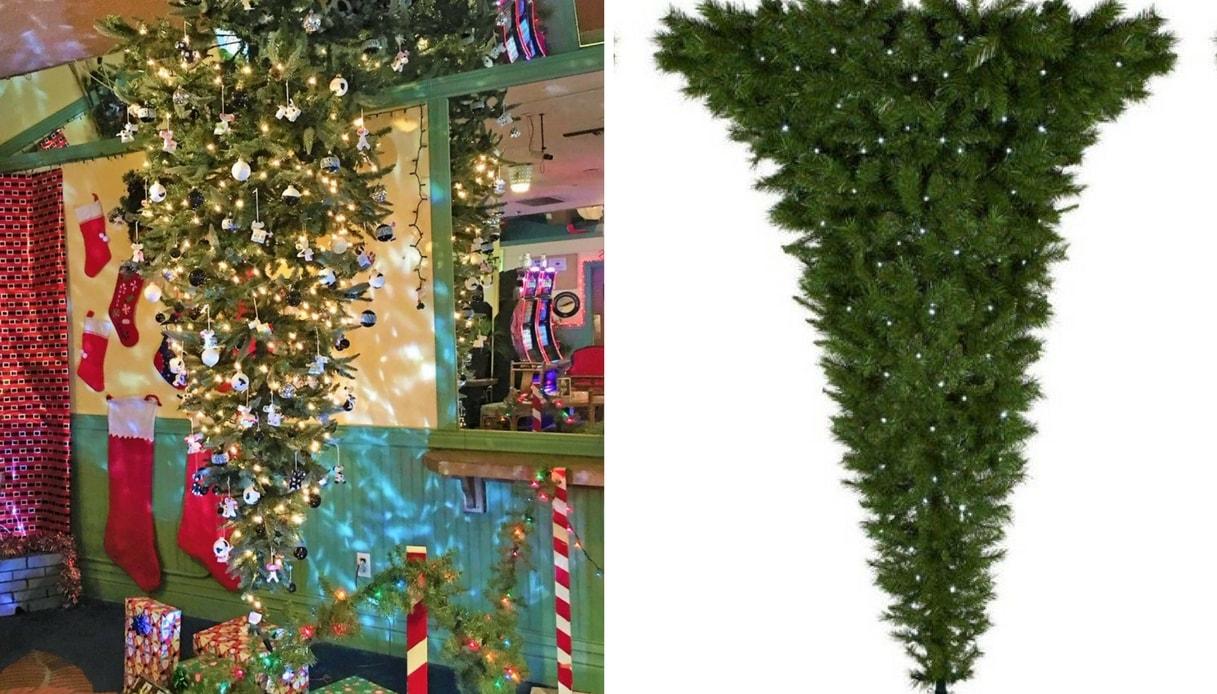 Albero Di Natale Capovolto.L Ultima Moda Sono Gli Alberi Di Natale Rovesciati Supereva
