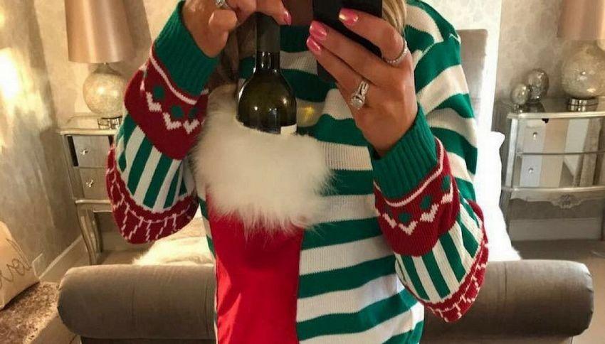 Christmas Jumper, il maglione natalizio con la tasca per il vino