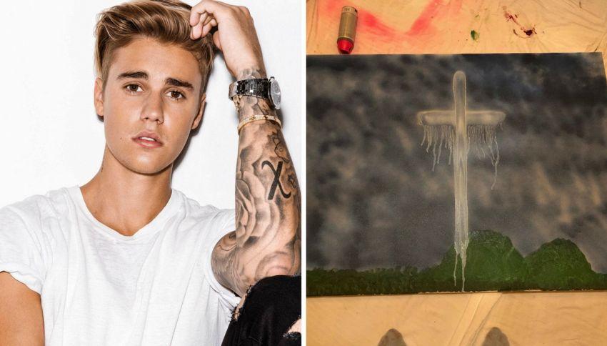 Justin Bieber ora fa il pittore e vende quadri religiosi su IG
