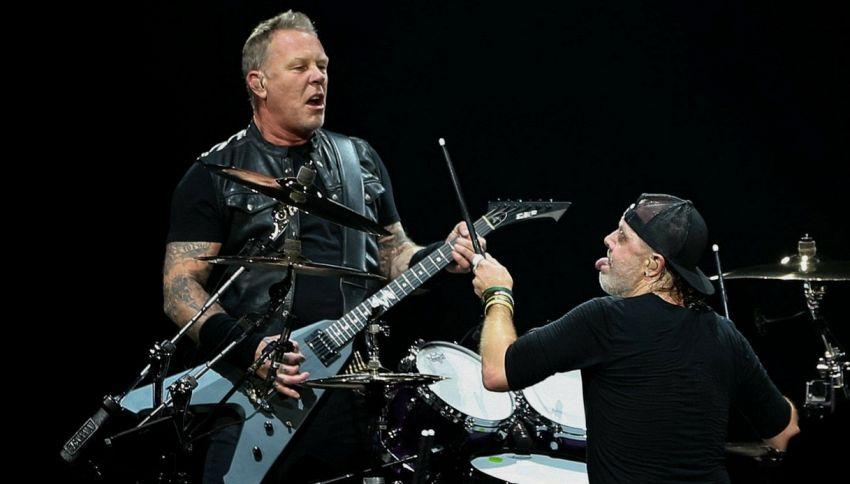 L'omaggio dei Metallica a Vasco Rossi, Modugno e Lucio Dalla