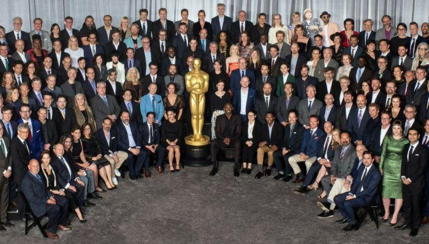 Luca Guadagnino al pranzo di gala con i nominati agli Oscar