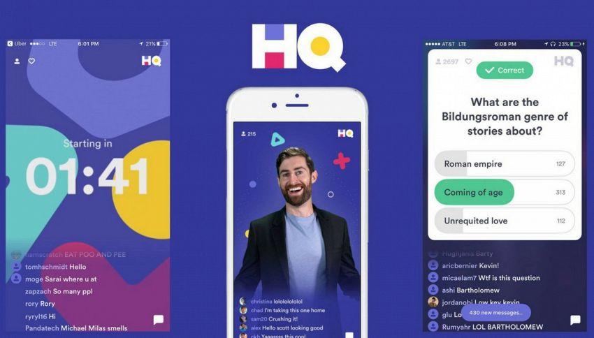 HQ Trivia, l'app quiz che ti fa vincere soldi veri
