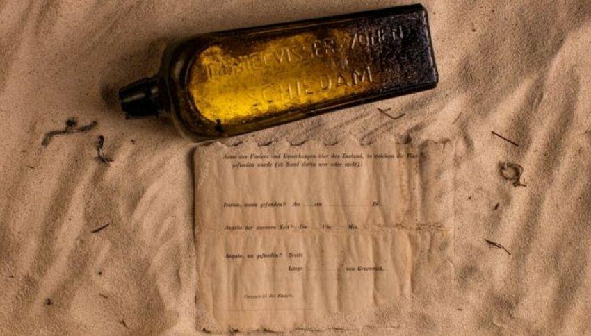 È stato ritrovato il più antico messaggio in bottiglia