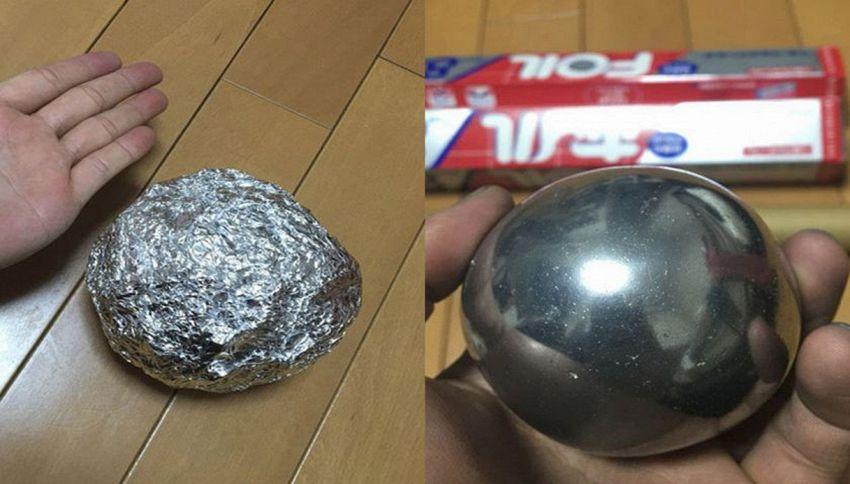 Le palle in carta stagnola sono la nuova moda social in Giappone