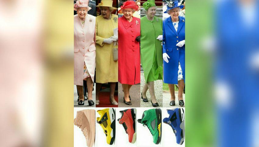 Un paio di sneakers per ogni outfit della Regina Elisabetta