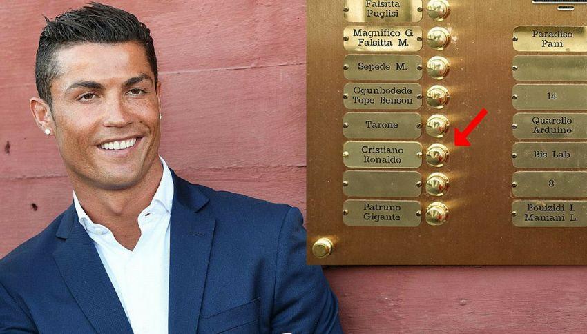 C'è Cristiano Ronaldo? A Torino spunta il suo nome su un citofono