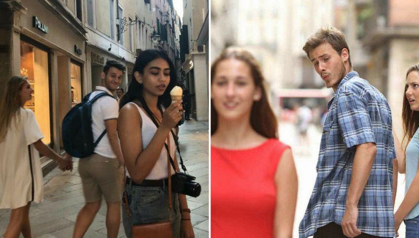 """Il """"fidanzato distratto"""" esiste ed è anche meglio del meme"""