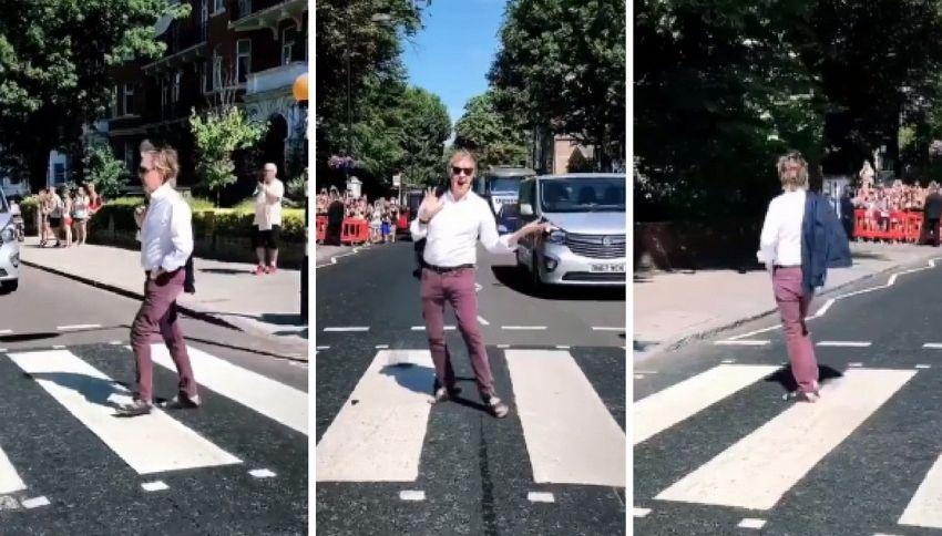 Paul McCartney attraversa (di nuovo) Abbey Road dopo 49 anni