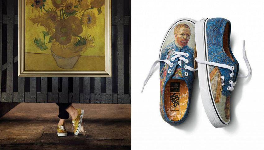 Le opere d'arte di Van Gogh diventano una collezione di scarpe