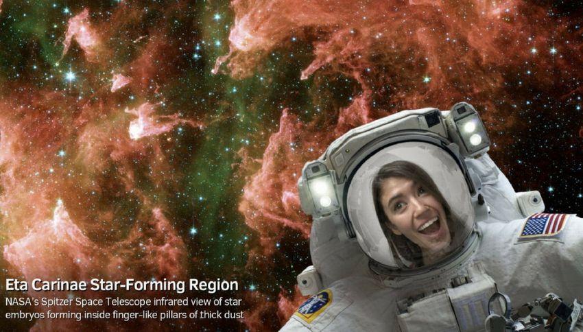 L'app della Nasa che vi fa fare i selfie nello spazio