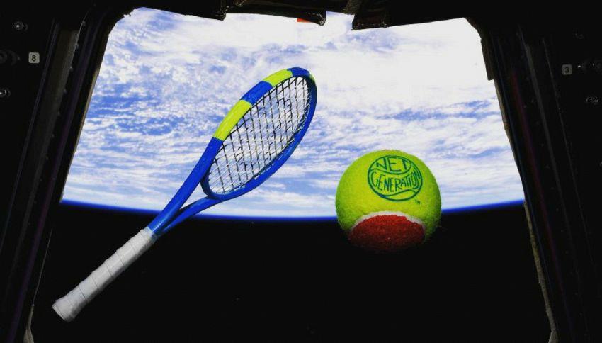 È stata disputata la prima partita di tennis nello Spazio