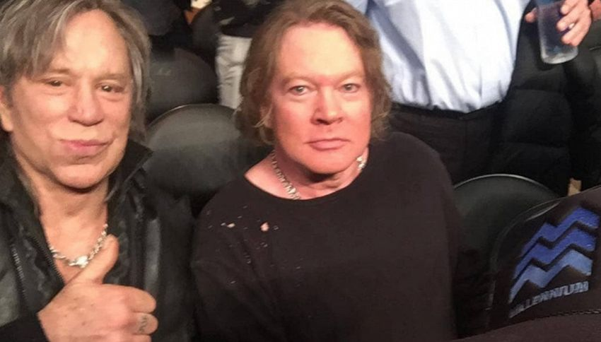 C'erano una volta Axl Rose e Mickey Rourke