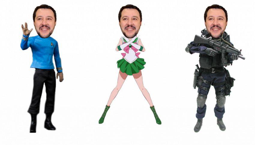 Qualcuno ha creato il generatore di meme che traveste Salvini