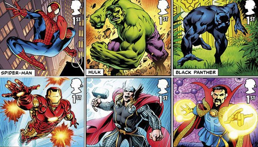 Arriva una linea di francobolli dedicata agli eroi della Marvel