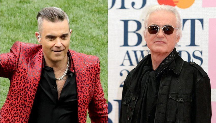 Robbie Williams vuole fare pace con il vicino di casa Jimmy Page