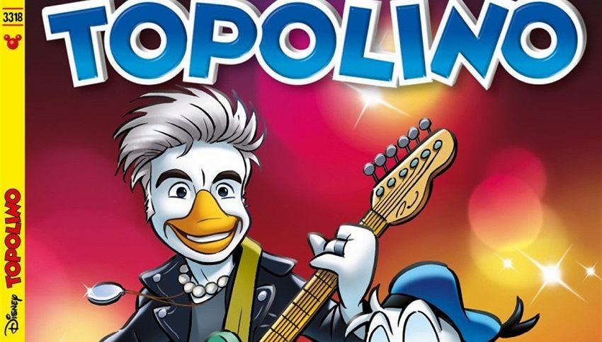 Ligabue debutta in versione 'Liga Duck' su Topolino