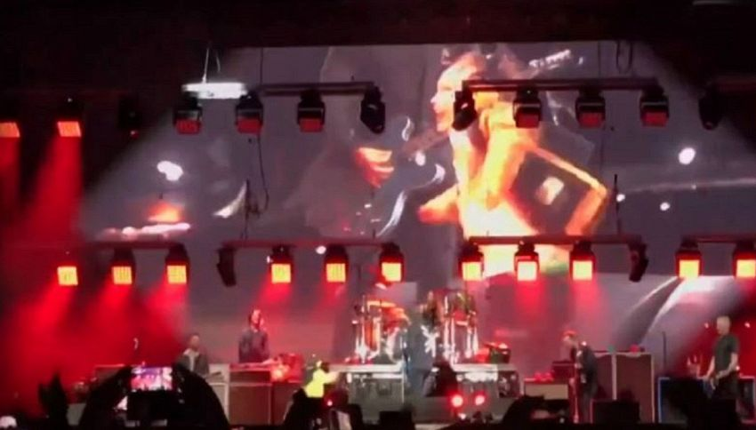 Un bambino scatenato sul palco con i Foo Fighters: il video