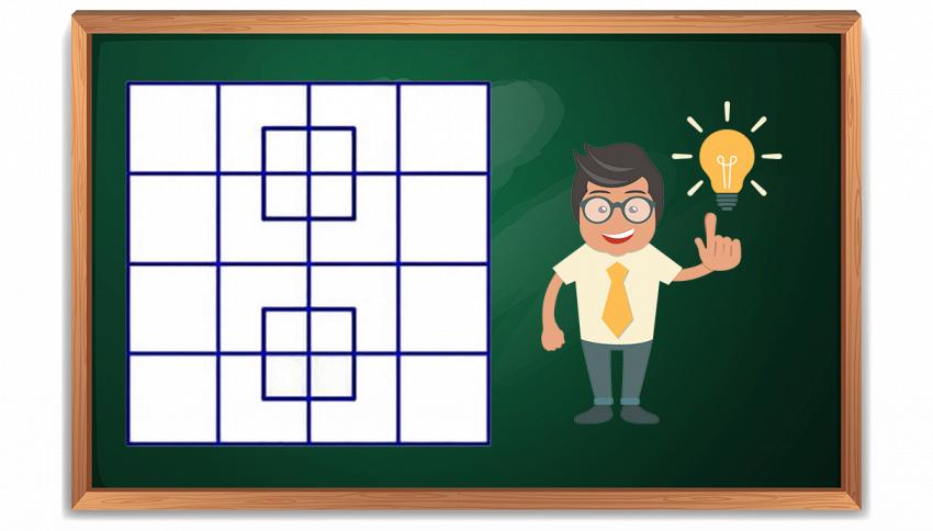 Quanti quadrati vedi in questa foto?