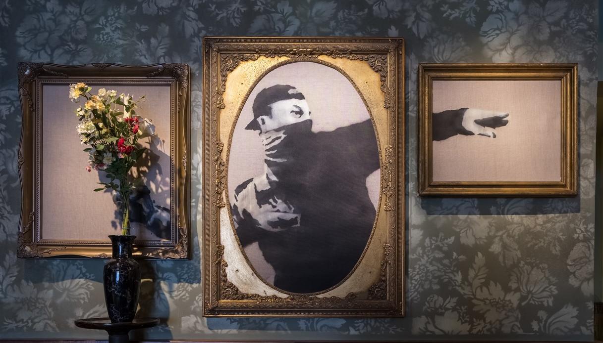 Banksy vende le sue opere d'arte iconiche a partire da 11 euro