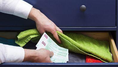 Dove nascondere i contanti in casa?