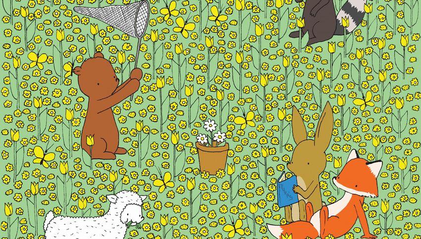 Riesci a trovare l'ape nascosta nel campo di fiori in 30 secondi?