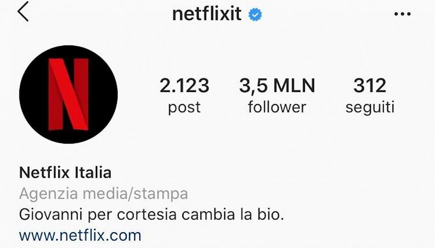 Netflix e il riferimento al fuorionda di Mattarella su Instagram