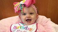 """La miracolosa storia di Lynlee, la bambina """"nata"""" due volte"""