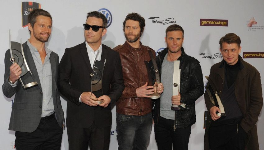 Take That: la reunion con Robbie Williams è via streaming