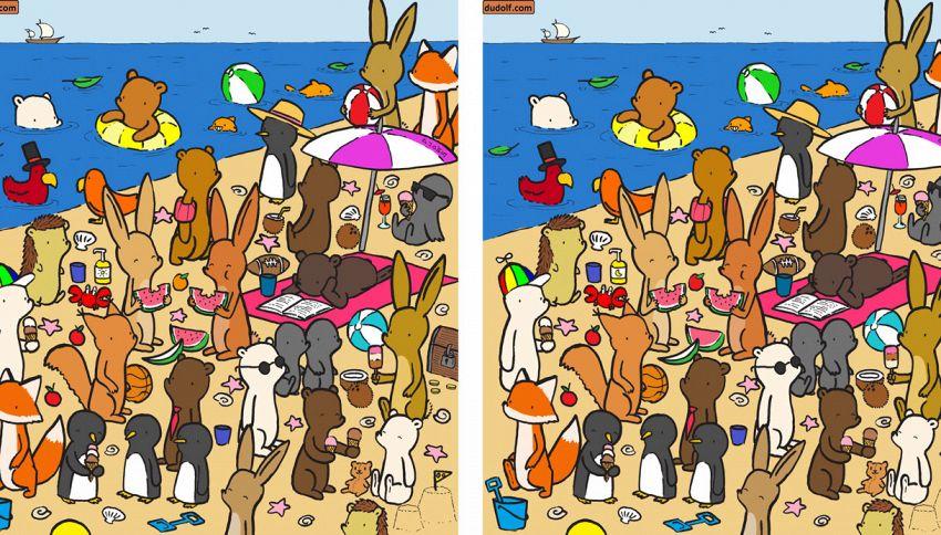 Riesci a trovare 7 differenze tra queste due immagini?
