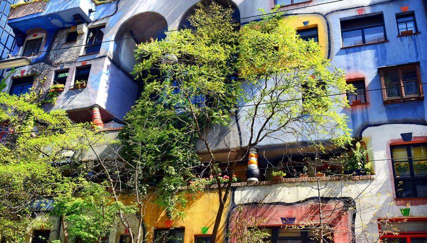 La casa con gli alberi che crescono dall'interno delle stanze