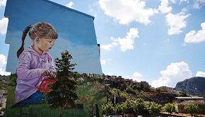 Realizzato in Basilicata un murale che si fonde col paesaggio
