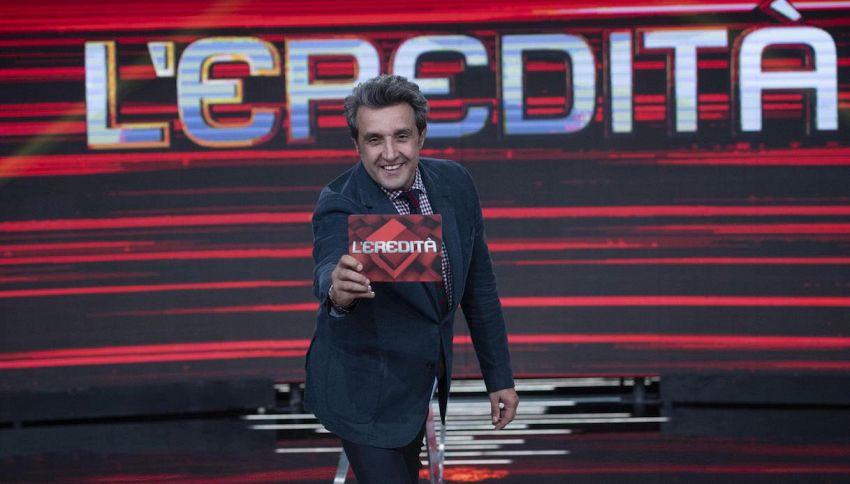 'L'Eredità': il campione Massimo Cannoletta batte tutti