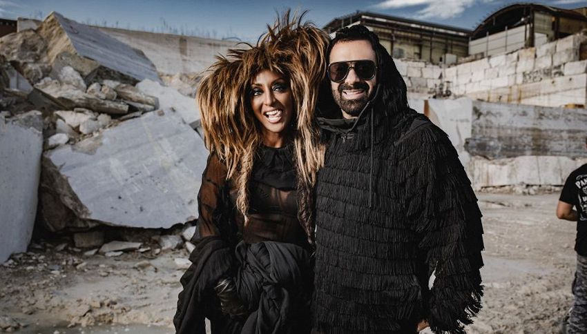La cantante Senhit e Luca Tommassini contro la violenza domestica
