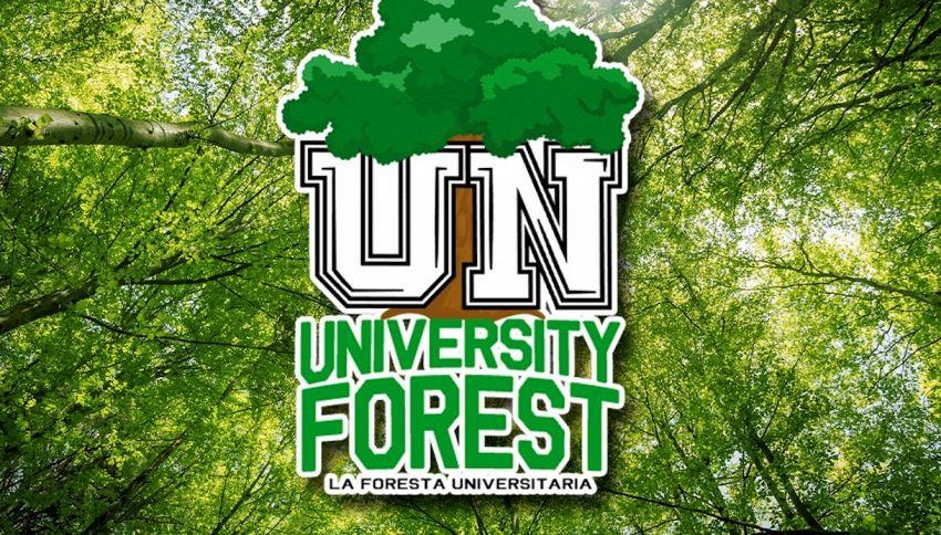 Gli studenti per un pianeta verde con 'La Foresta Universitaria'