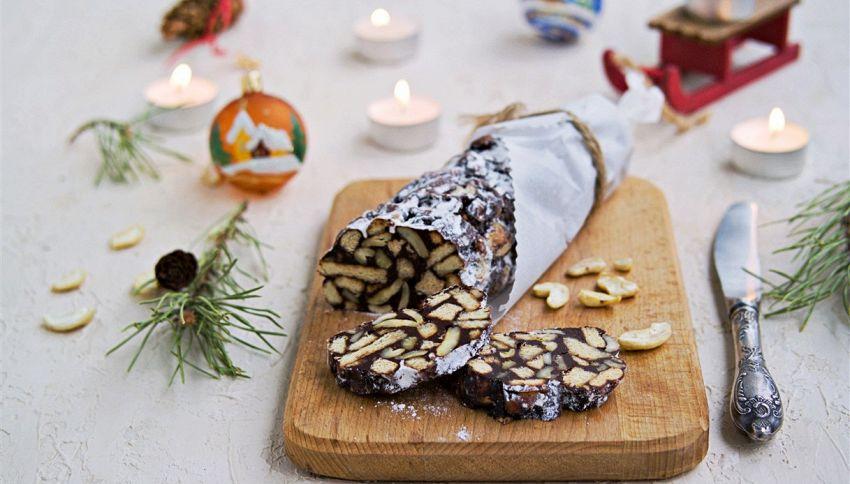 Salame di cioccolato col panettone: il dolce pronto in 10 minuti