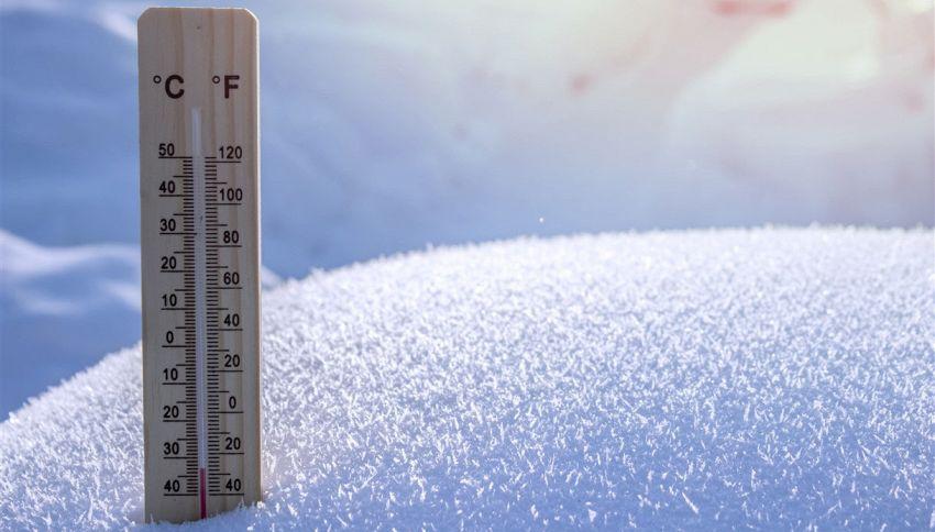-45 gradi: l'incredibile foto della pasta congelata a mezz'aria