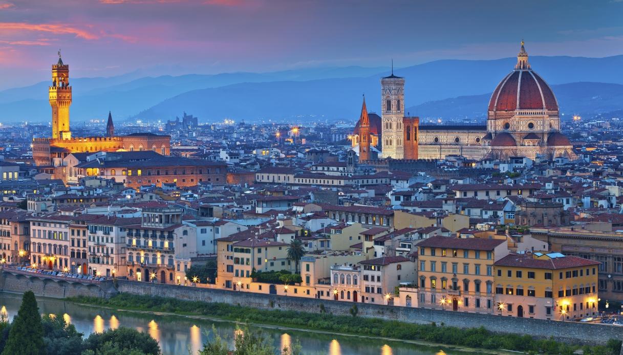 Firenze illuminata contro il cambiamento climatico