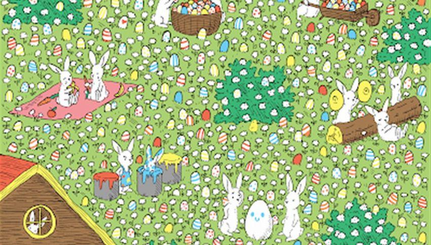 Riesci a vedere l'uovo bianco nascosto in questa immagine?