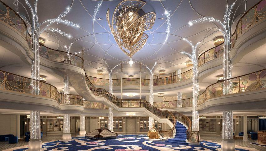 Sulla nuova nave Disney Wish c'è anche la biblioteca di Belle