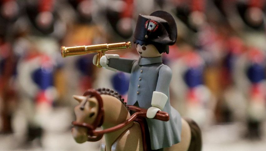 Napoleone e la battaglia di Waterloo in versione Playmobil