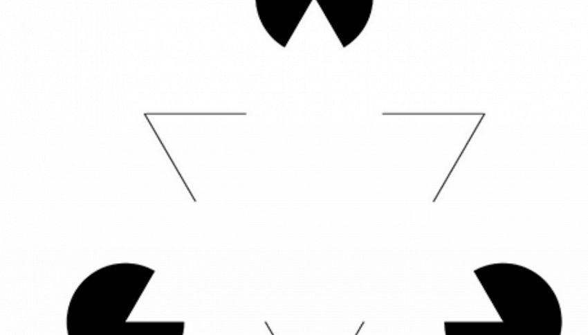 L'illusione ottica del triangolo di Kanizsa: voi cosa vedete?