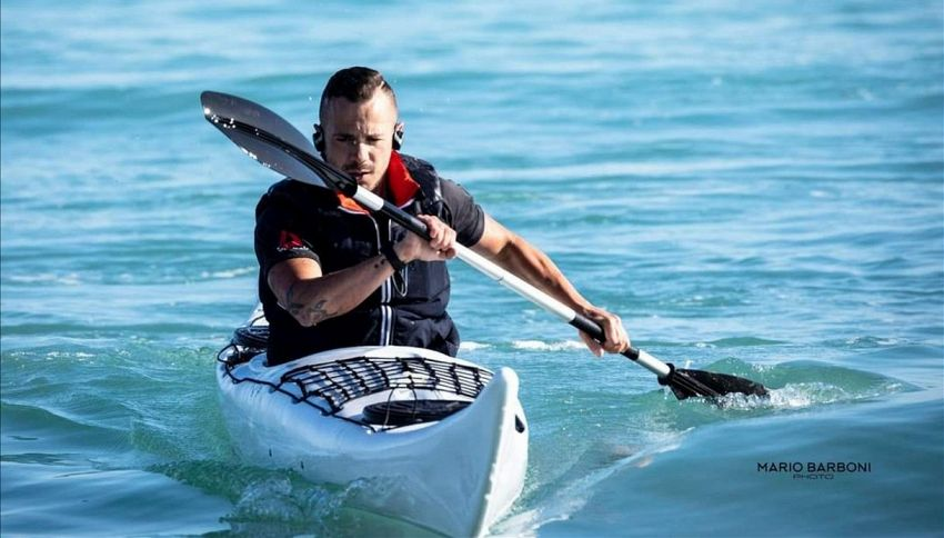 In kayak contro la fibrosi: l'impresa di Alessandro Gattafoni