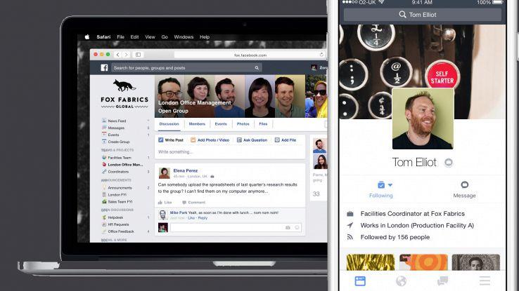 Facebook for Work, il social network per la produttività aziendale