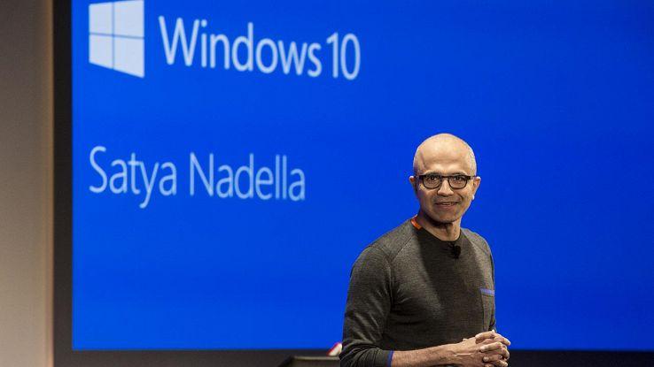 Satya Nadella e Windows 10